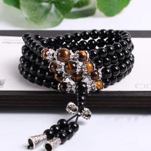 108 Tiger Eye Meditation Fashion Bracelet